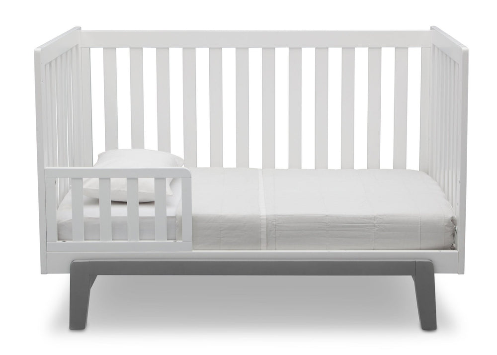 Delta Children Bianca with Grey (166) Aster 3-in-1 Crib, Toddler Bed Conversion