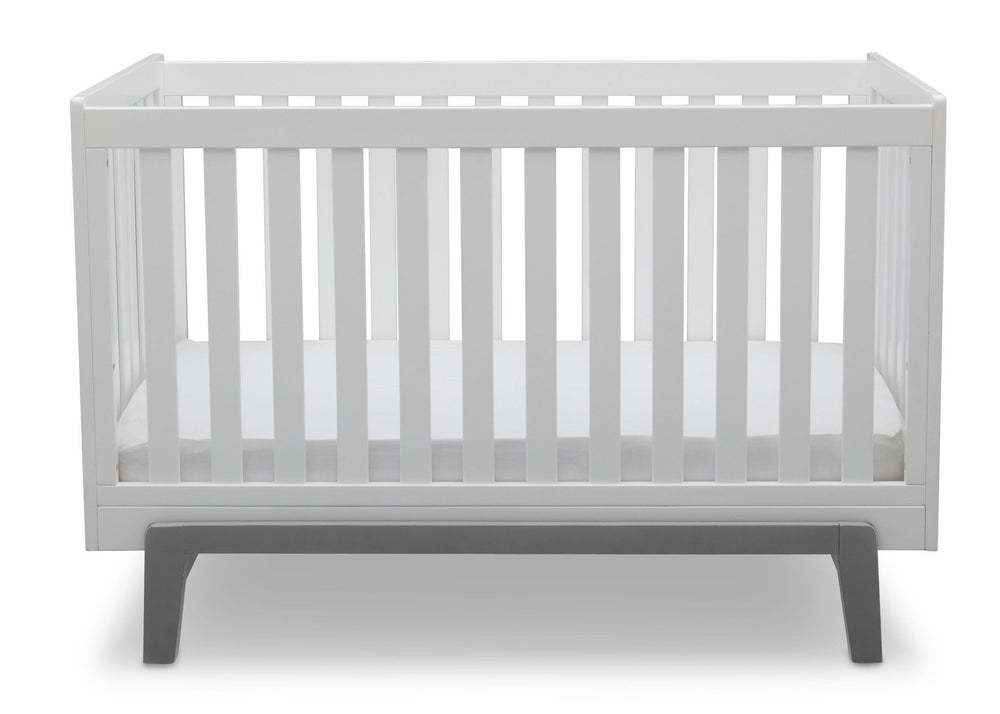 Delta Children Bianca with Grey (166) Aster 3-in-1 Crib, Straight Crib View b3b
