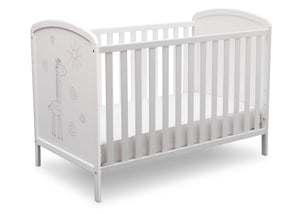 Delta Children, Bianca With Animal Motif (1303), Modbaby 3-in-1 Crib, angled silo, a4a