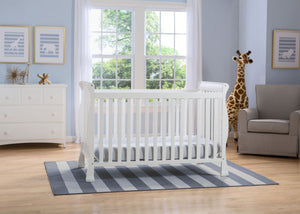 Delta Children Bianca (130) Riverside 4-in-1 Crib, room view, a1a