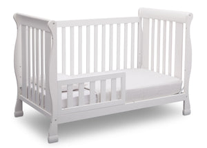Delta Children Bianca (130) Riverside 4-in-1 Crib, angled conversion to toddler bed, a4a