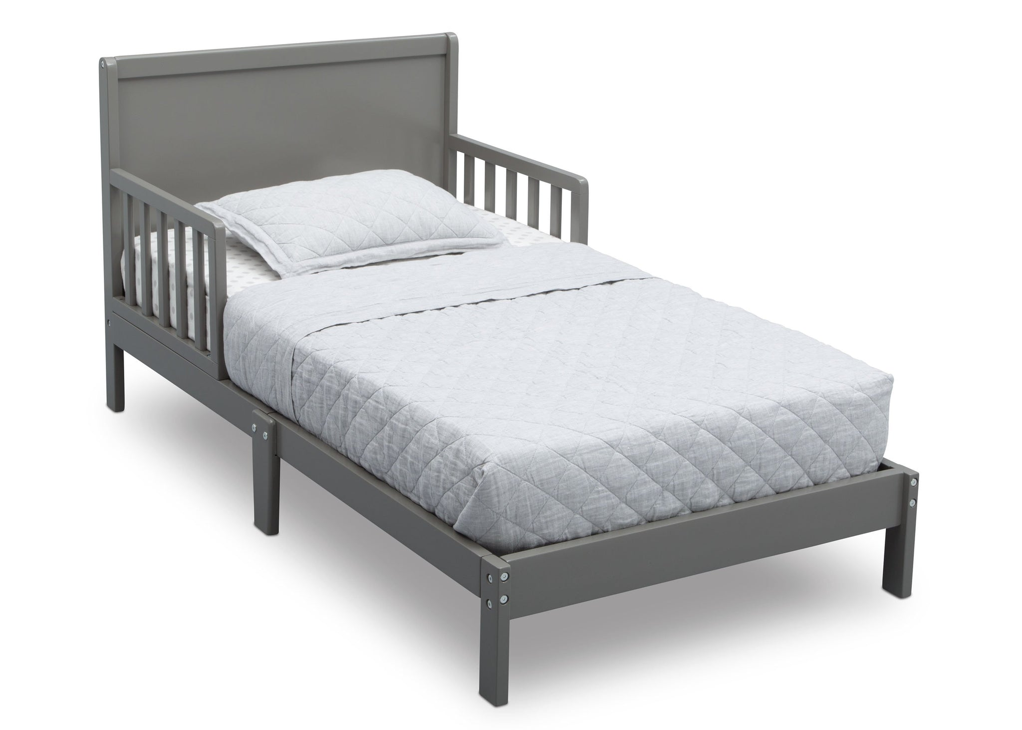 Delta Children Classic Grey (028) My First Room Toddler 3-Piece Room-in-a-Box, Twin Bed, a3a
