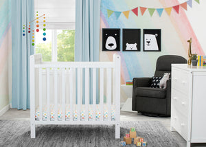 Classic Mini Crib with Mattress Bianca White (130)