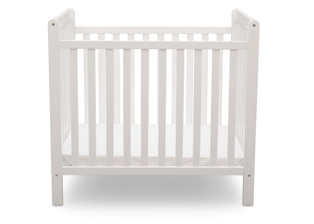 Delta Children Bianca (130) Classic Mini Crib with Mattress Front View a3a