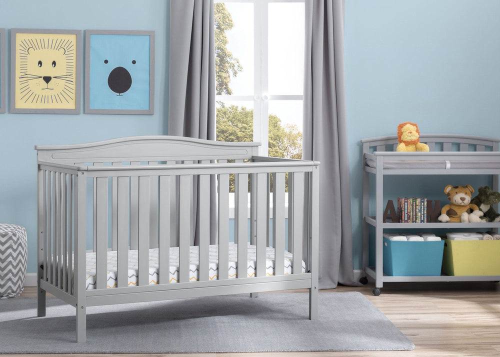 Independence 4-in-1 Convertible Crib (Grey) - Bundle