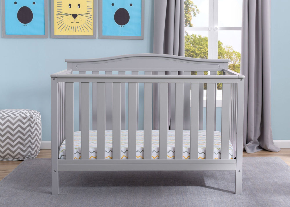 Delta Children Grey (026) Independence 4-in-1 Convertible Crib, Hangtag a2a