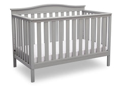 Delta Children Grey (026) Independence 4-in-1 Convertible Crib, Angled Crib View a3a