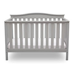 Delta Children Grey (026) Independence 4-in-1 Convertible Crib, Straight Crib View a4a