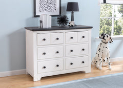 Delta Children Bianca with Rustic Ebony (135) Providence 6 Drawer Dresser, Hangtag a1a