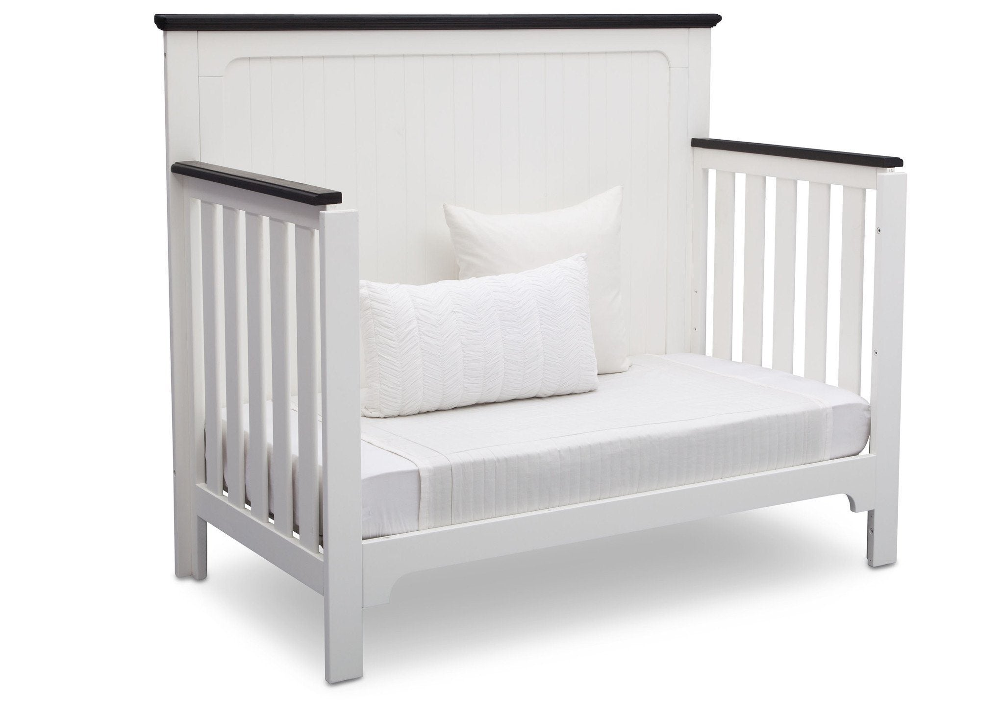 Delta Children Bianca with Rustic Ebony (135) Providence 4-in-1 Crib, Daybed Conversion a6a