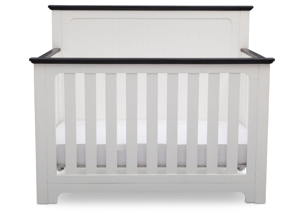 Delta Children Bianca with Rustic Ebony (135) Providence 4-in-1 Crib, Front View a3a