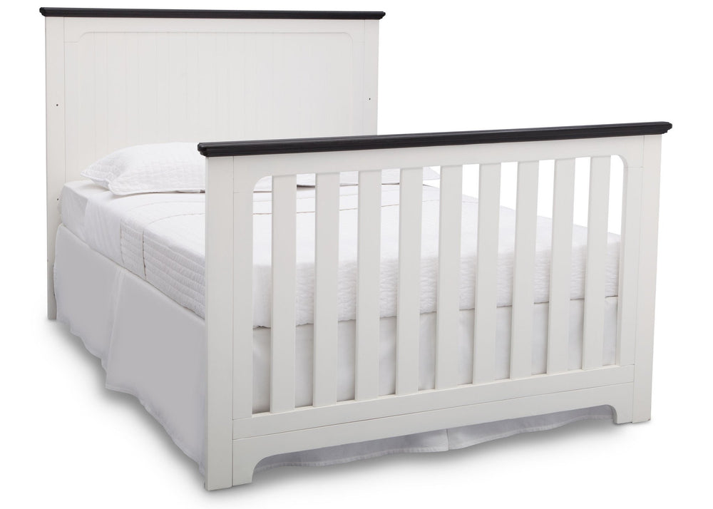 Delta Children Bianca with Rustic Ebony (135) Providence 4-in-1 Crib, Full Size Bed Conversion a7a