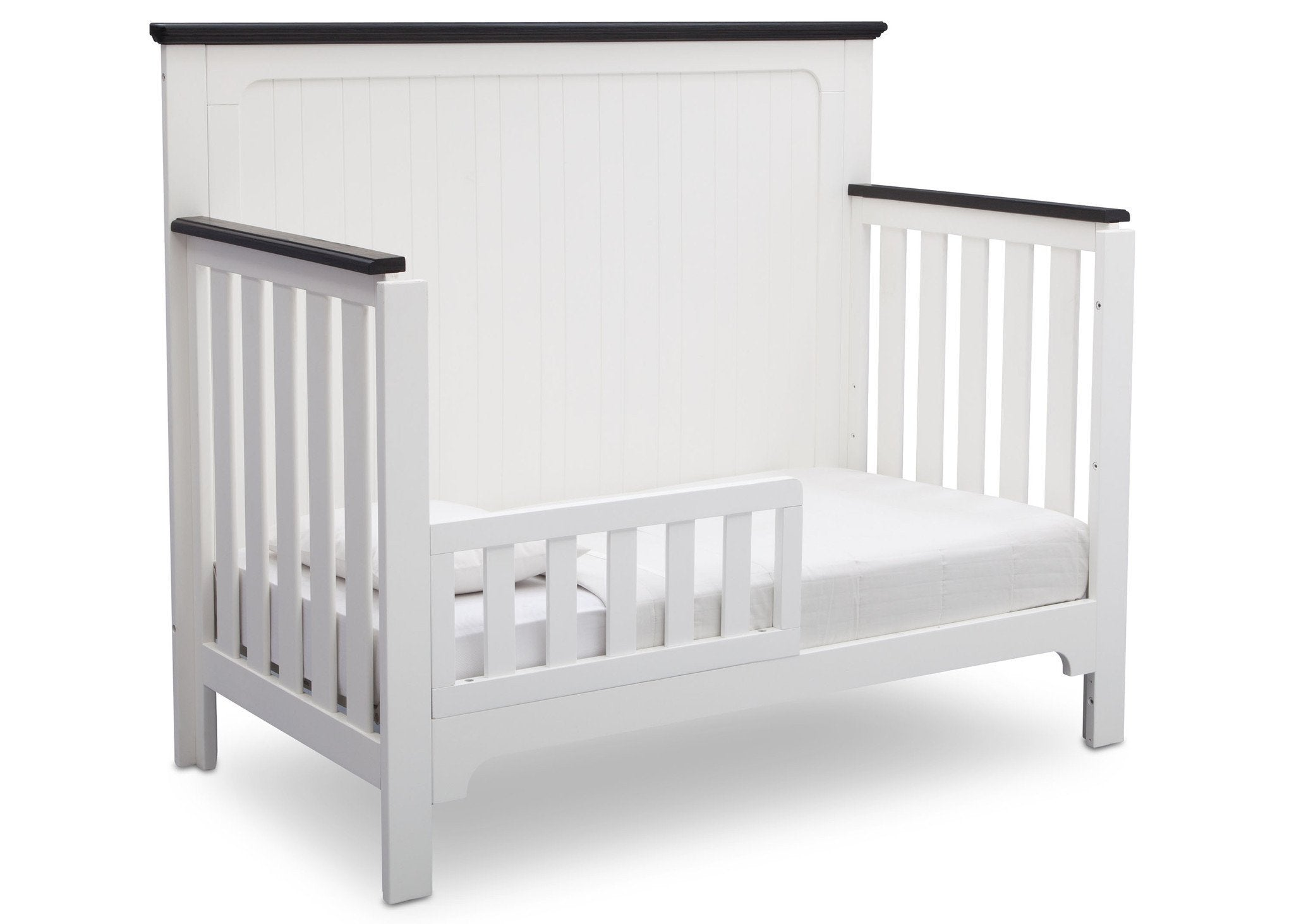 Delta Children Bianca with Rustic Ebony (135) Providence 4-in-1 Crib, Toddler Bed Conversion a5a