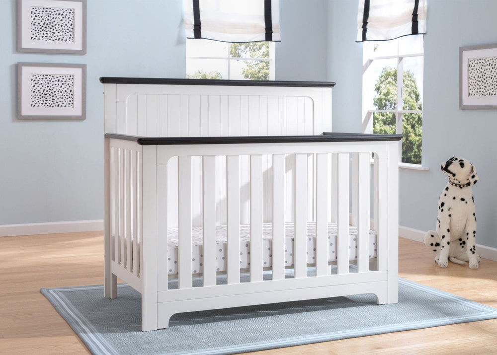 Delta Children Bianca with Rustic Ebony (135) Providence 4-in-1 Crib, Hangtag