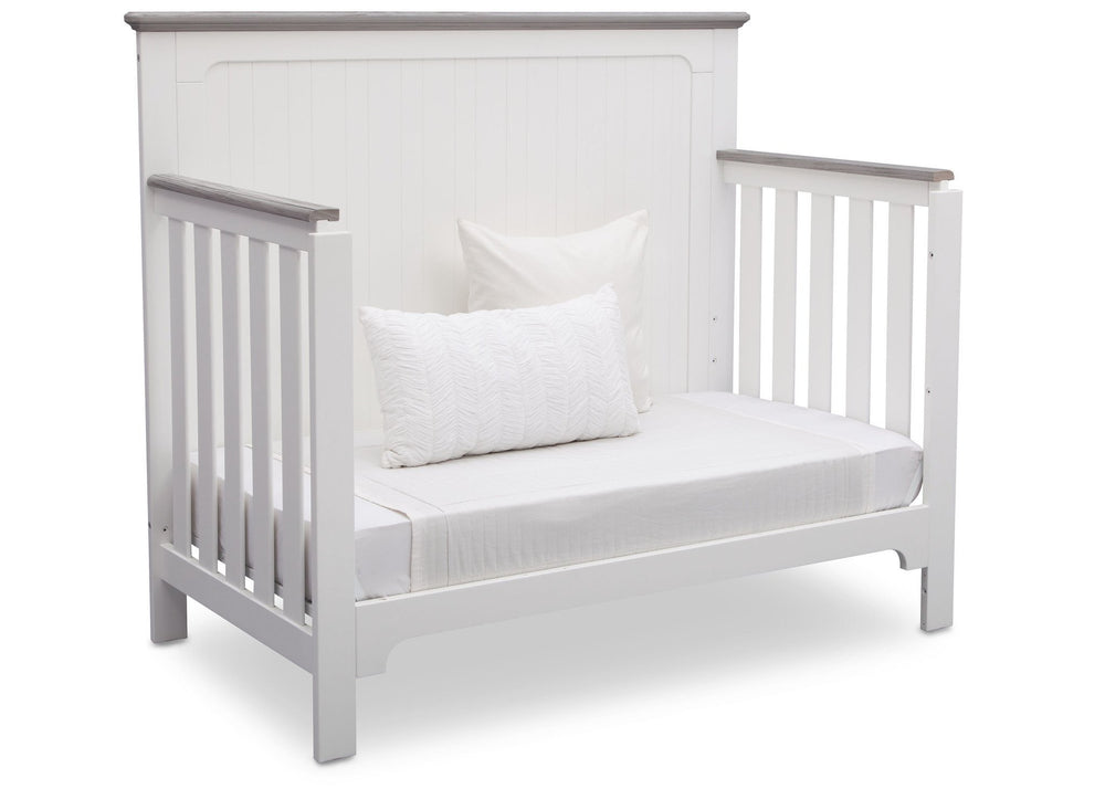 Delta Children Bianca with Rustic Haze (136) Providence 4-in-1 Crib, Daybed Conversion b6b