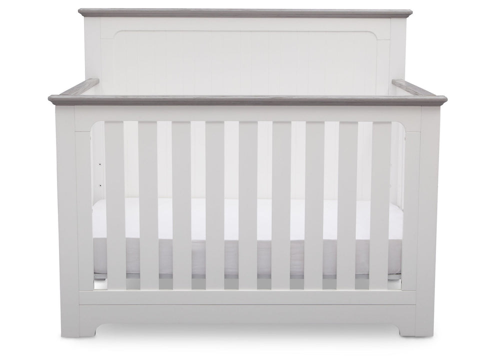 Delta Children Bianca with Rustic Haze (136) Providence 4-in-1 Crib, Front View b3b