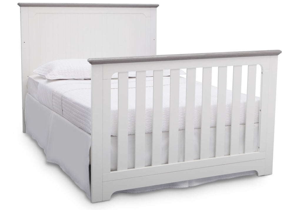 Delta Children Bianca with Rustic Haze (136) Providence 4-in-1 Crib, Full Size Bed Conversion b7b
