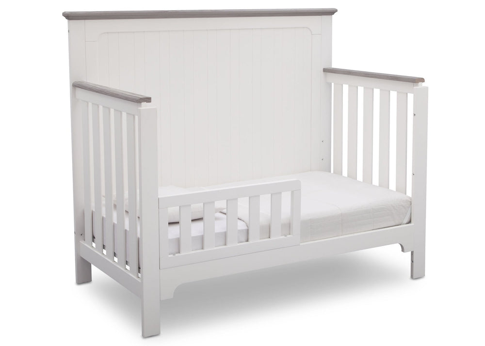 Delta Children Bianca with Rustic Haze (136) Providence 4-in-1 Crib, Toddler Bed Conversion b5b