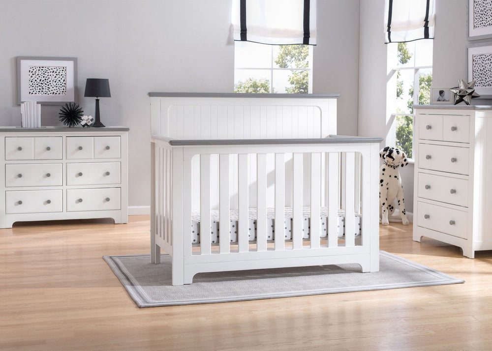 Delta Children Bianca with Rustic Haze (136) Providence 4-in-1 Crib, Room b1b