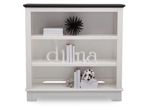 Delta Children Bianca with Rustic Ebony (135) Providence Bookcase/Hutch, Front View a2a