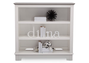 Delta Children Bianca with Rustic Haze (136) Providence Bookcase/Hutch, Front View b2b