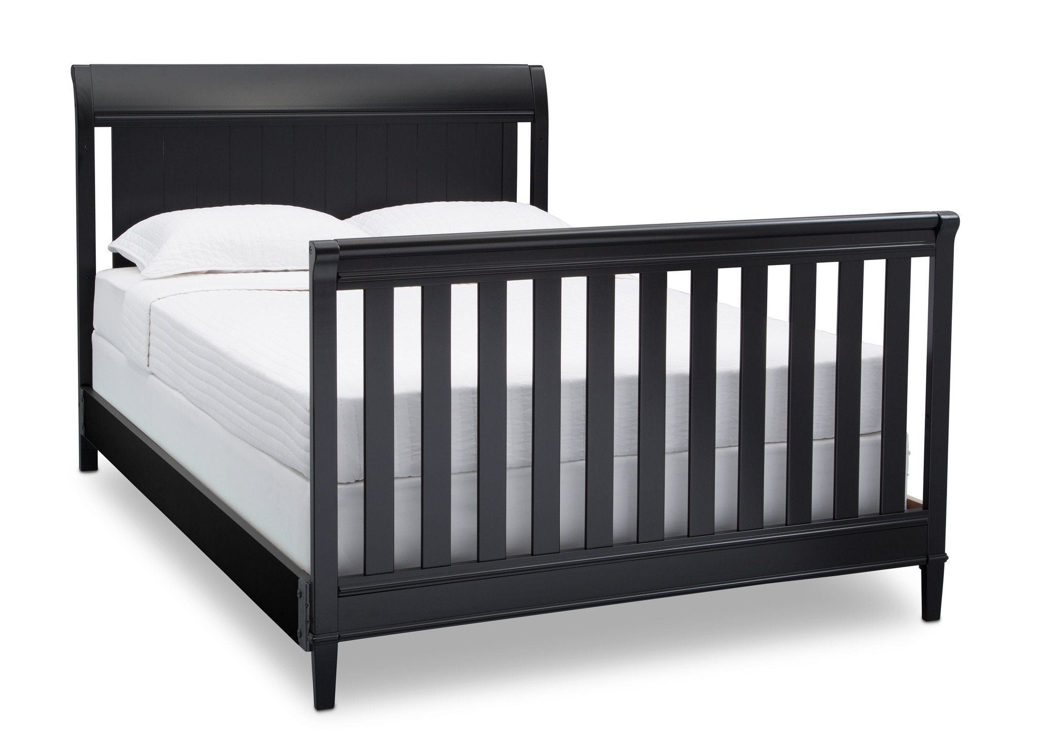 Delta Children Ebony (0011) New Haven 4-in-1 Crib, Angled Conversion to Full Size Bed, a6a