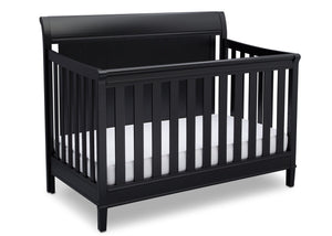 Delta Children Ebony (0011) New Haven 4-in-1 Crib, Side View, a3a