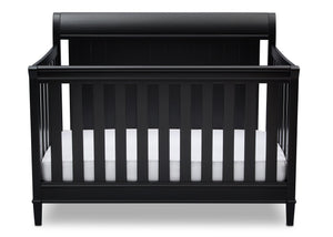 Delta Children Ebony (0011) New Haven 4-in-1 Crib, Front View, a2a