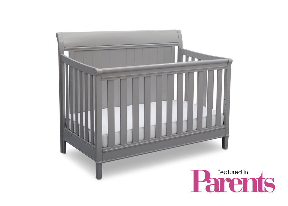 Delta Children Grey (026) New Haven 4-in-1 Crib, With Seal, b7b