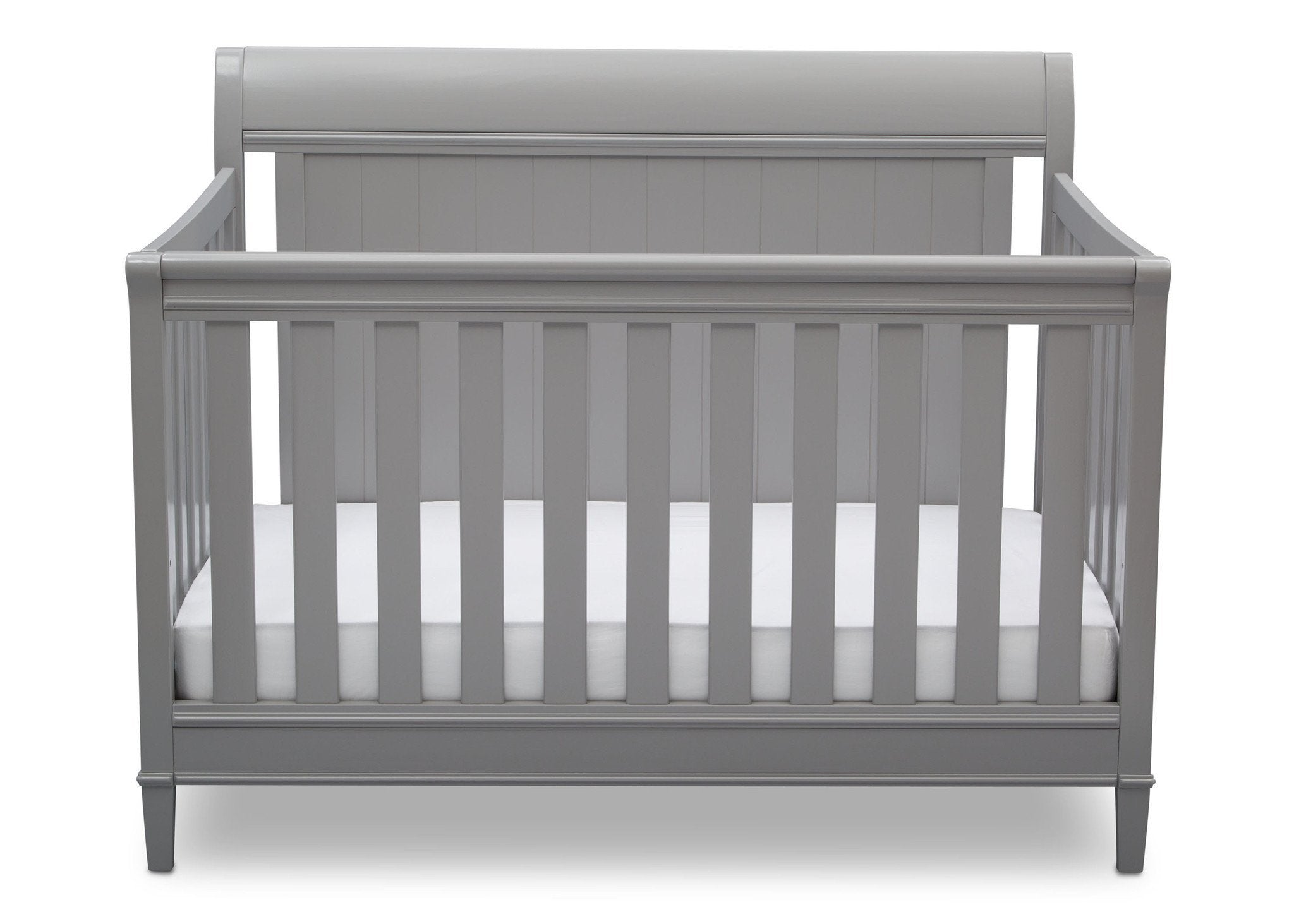 Delta Children Grey (026) New Haven 4-in-1 Crib, Front View, b2b