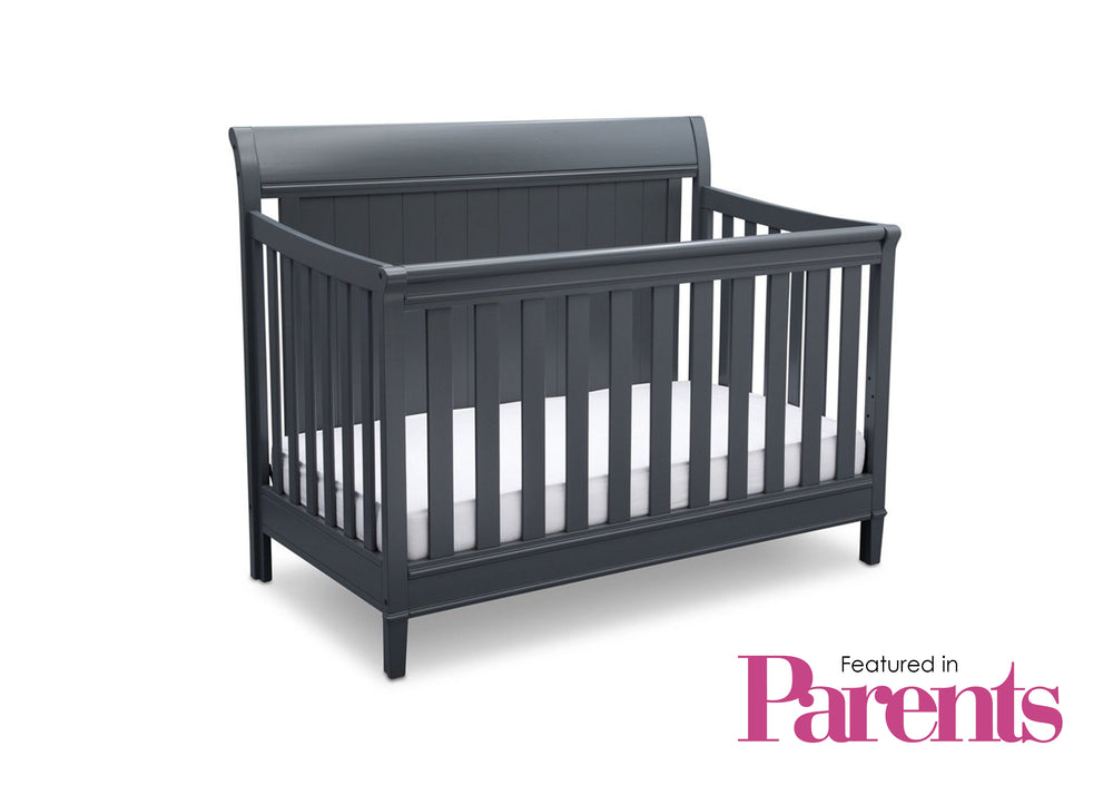 Delta Children Charcoal (029) New Haven 4-in-1 Crib, With Seal, c7c