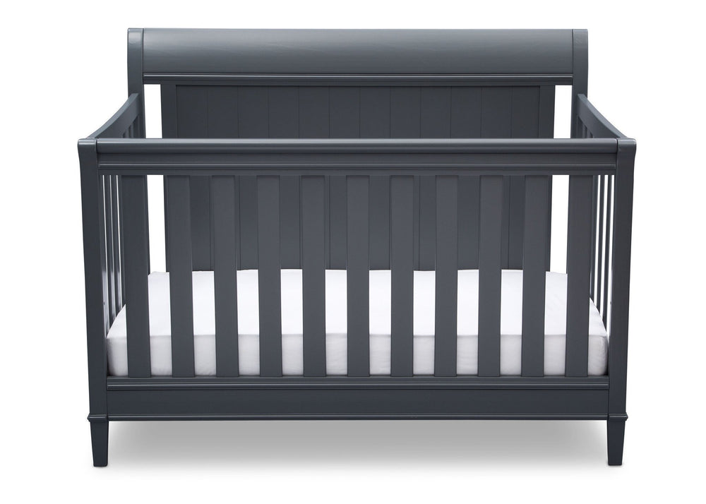 Delta Children Charcoal (029) New Haven 4-in-1 Crib, Front View, c2c