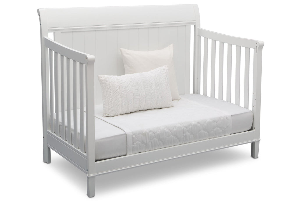 Delta Children Bianca (130) New Haven 4-in-1 Crib, Angled Conversion to Daybed, d5d