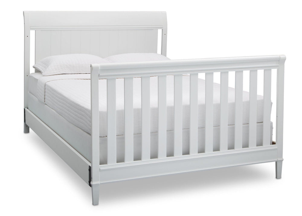Delta Children Bianca (130) New Haven 4-in-1 Crib, Angled Conversion to Full Size Bed, d6d