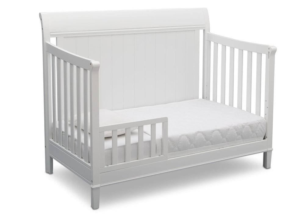 Delta Children Bianca (130) New Haven 4-in-1 Crib, Angled Conversion to Toddler Bed, d4d
