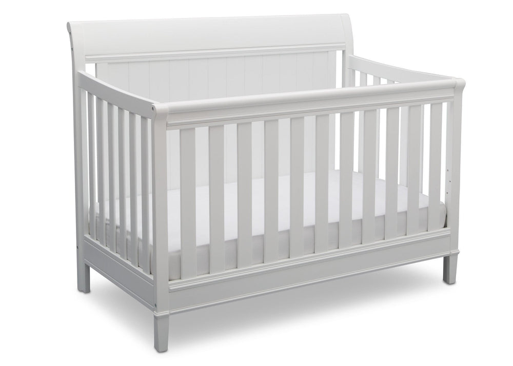 Delta Children Bianca (130) New Haven 4-in-1 Crib, Angled View, d3d