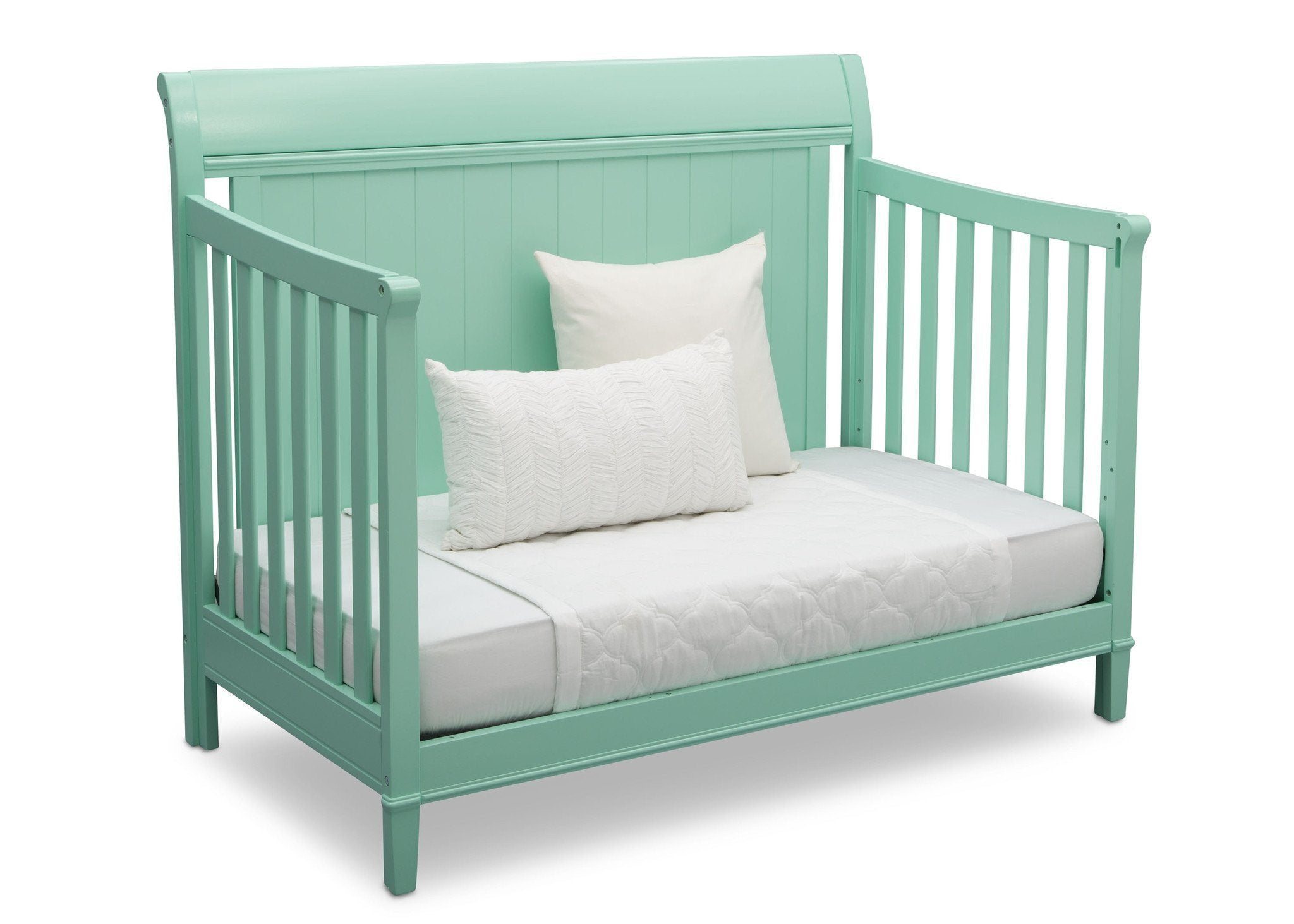Delta Children Aqua (347) New Haven 4-in-1 Crib, Angled Conversion to Daybed, e5e
