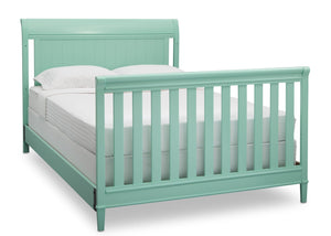 Delta Children Aqua (347) New Haven 4-in-1 Crib, Angled Conversion to Full Size Bed, e6e