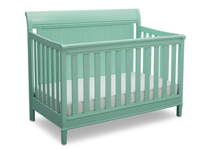 Delta Children Aqua (347) New Haven 4-in-1 Crib, Angled View, e3e