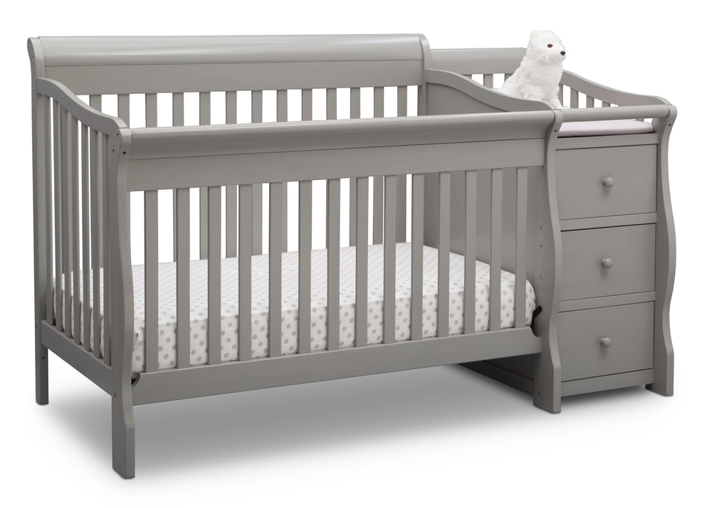 Princeton Junction Convertible Crib N Changer Grey (026) Angle a3a