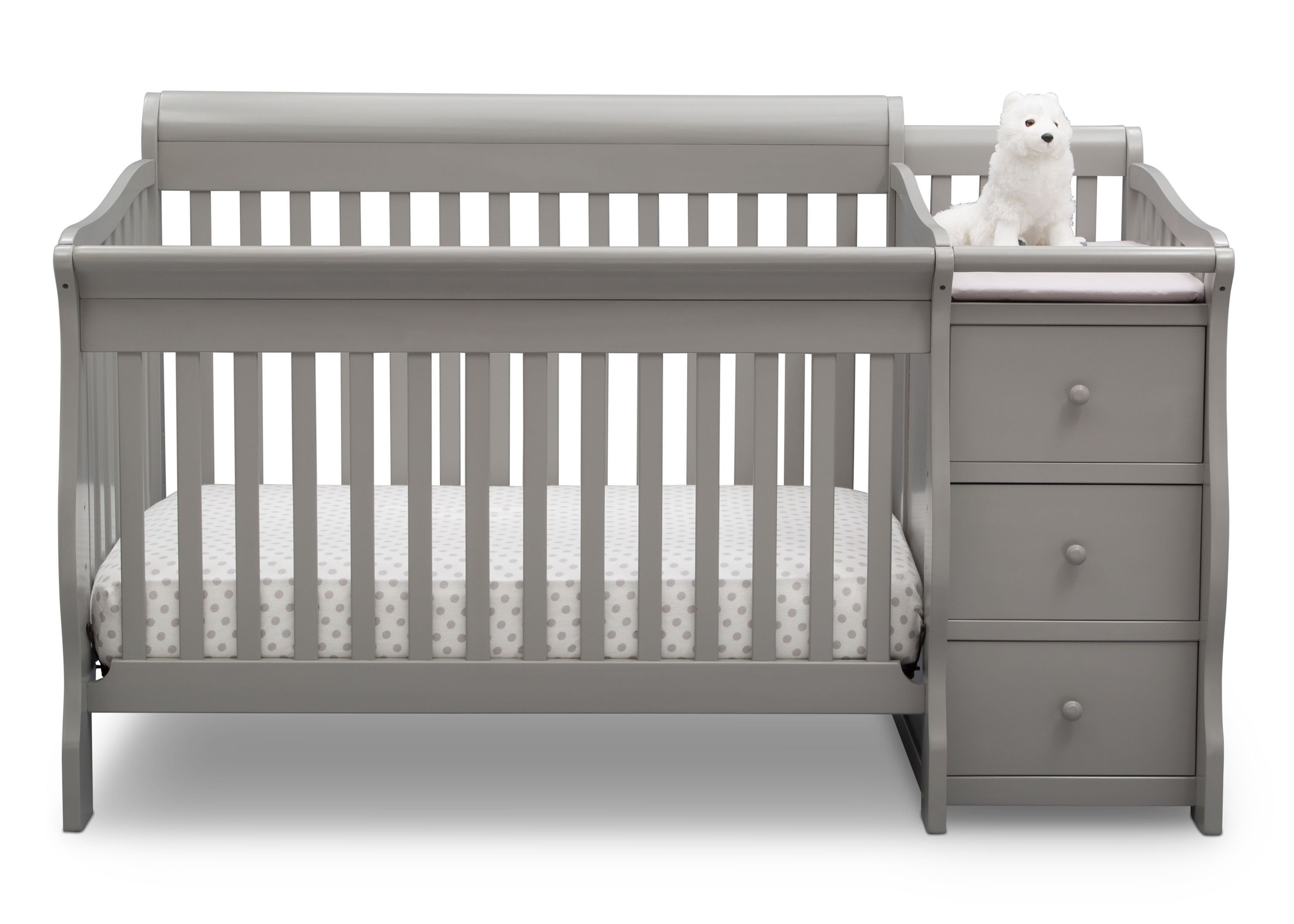 stylish white bed with lovely vintage stained luxury changing rpisite table crib cribs furniture baby pictures of wooden