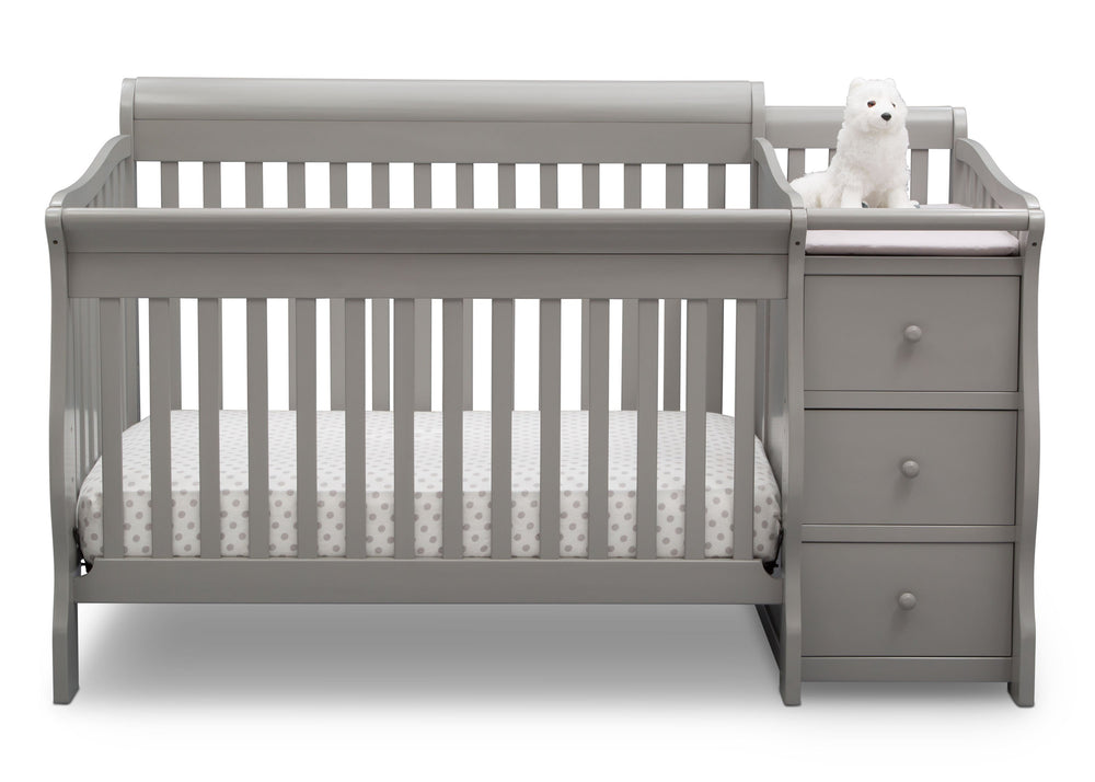 Princeton Junction Convertible Crib N Changer Grey (026) Front a2a