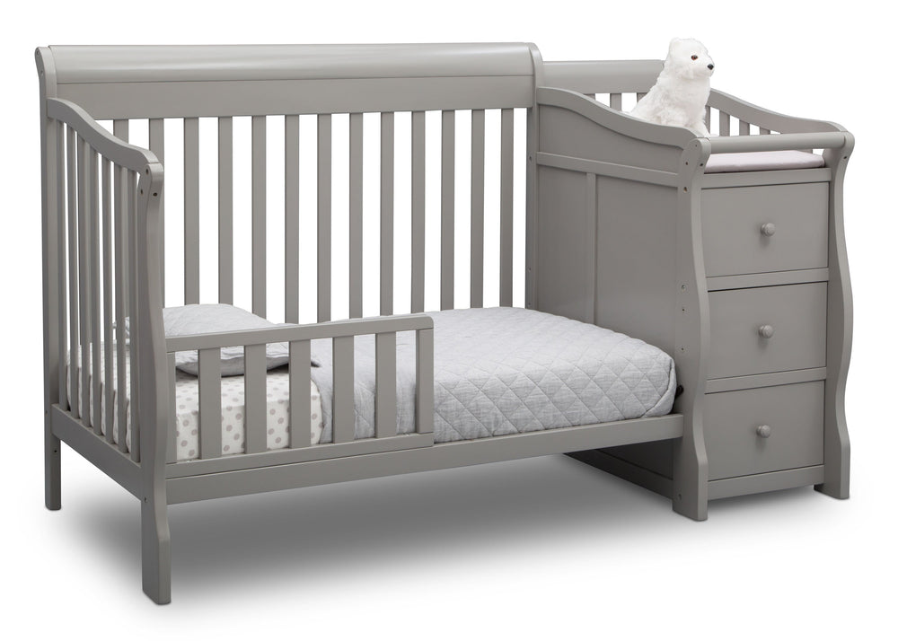 Princeton Junction Convertible Crib N Changer Grey (026) Toddler Bed a4a