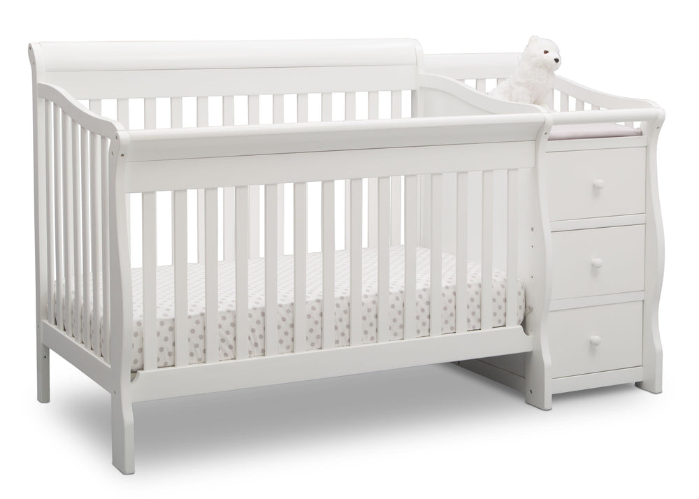 Princeton Junction Convertible Crib N Changer Bianca (130) Angle b3b