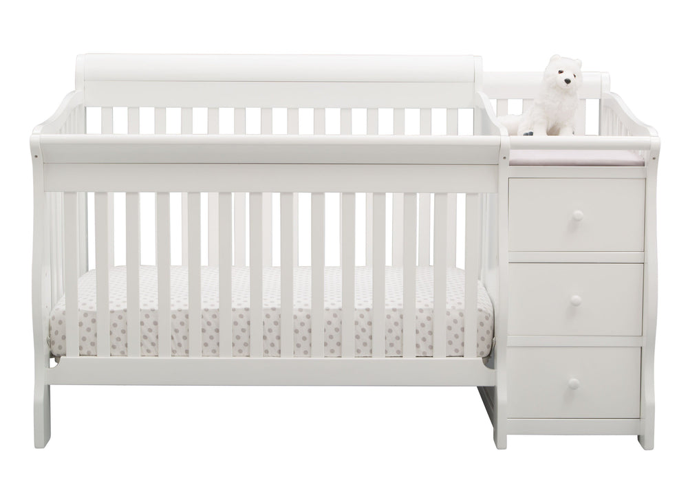 Princeton Junction Convertible Crib N Changer Bianca (130) Front b2b