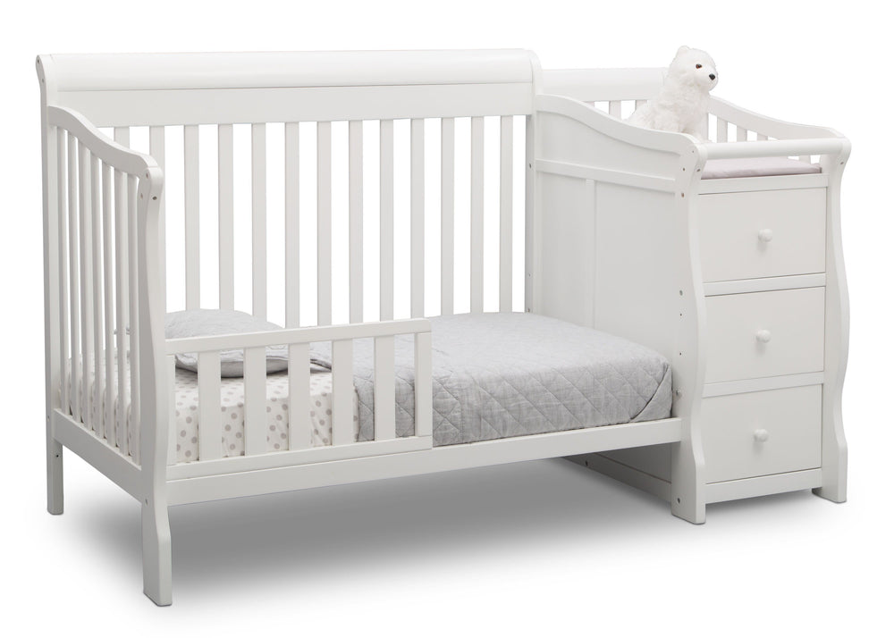 Princeton Junction Convertible Crib N Changer Bianca (130) Toddler Bed b4b