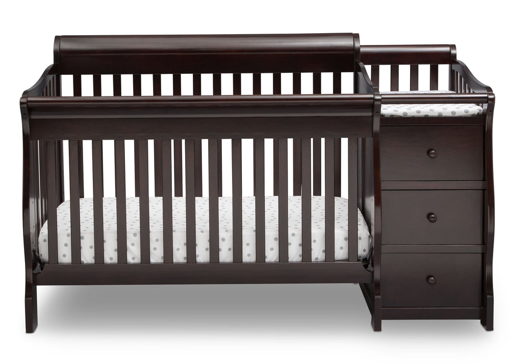 Delta Children Dark Chocolate (207) Princeton Junction Convertible Crib N Changer Front c2c