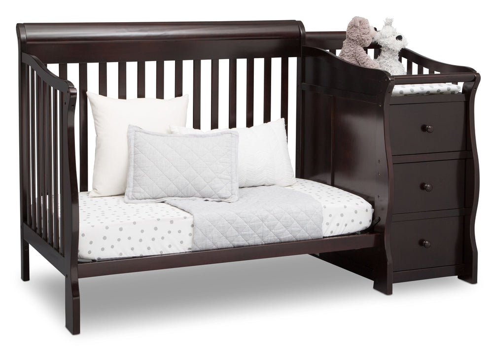 Princeton Junction Convertible Crib N Changer Dark Chocolate (207) Daybed c5c