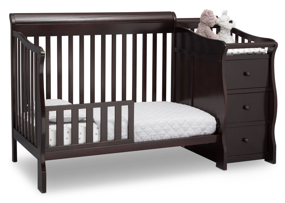 Princeton Junction Convertible Crib N Changer Dark Chocolate (207) Toddler Bed c4c