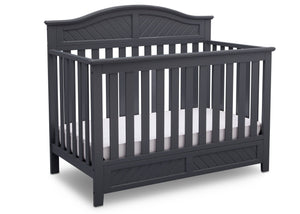 Delta Children Dark Charcoal (029) Bennington Elite Curved 4-in-1 Crib Side View c3c